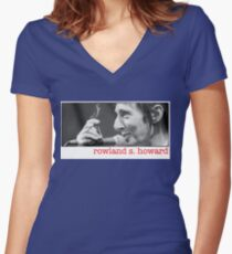 Rowland S Howard Women's Fitted V-Neck T-Shirt