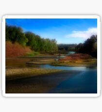 Landscape with River Sticker