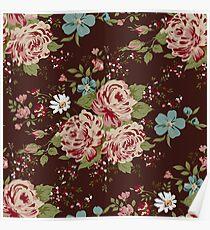 Vintage floral cute wallpaper  Poster