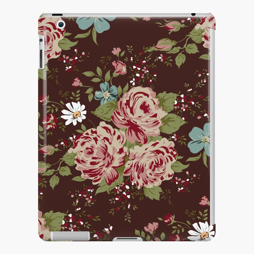 Vintage Floral Cute Wallpaper Ipad Case Skin By Lourdelkalou