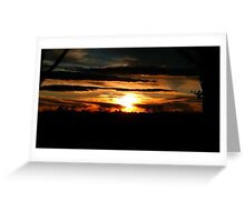 February Sunset  Greeting Card