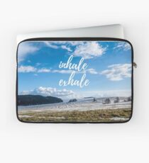 Inhale/Exhale Laptop Sleeve