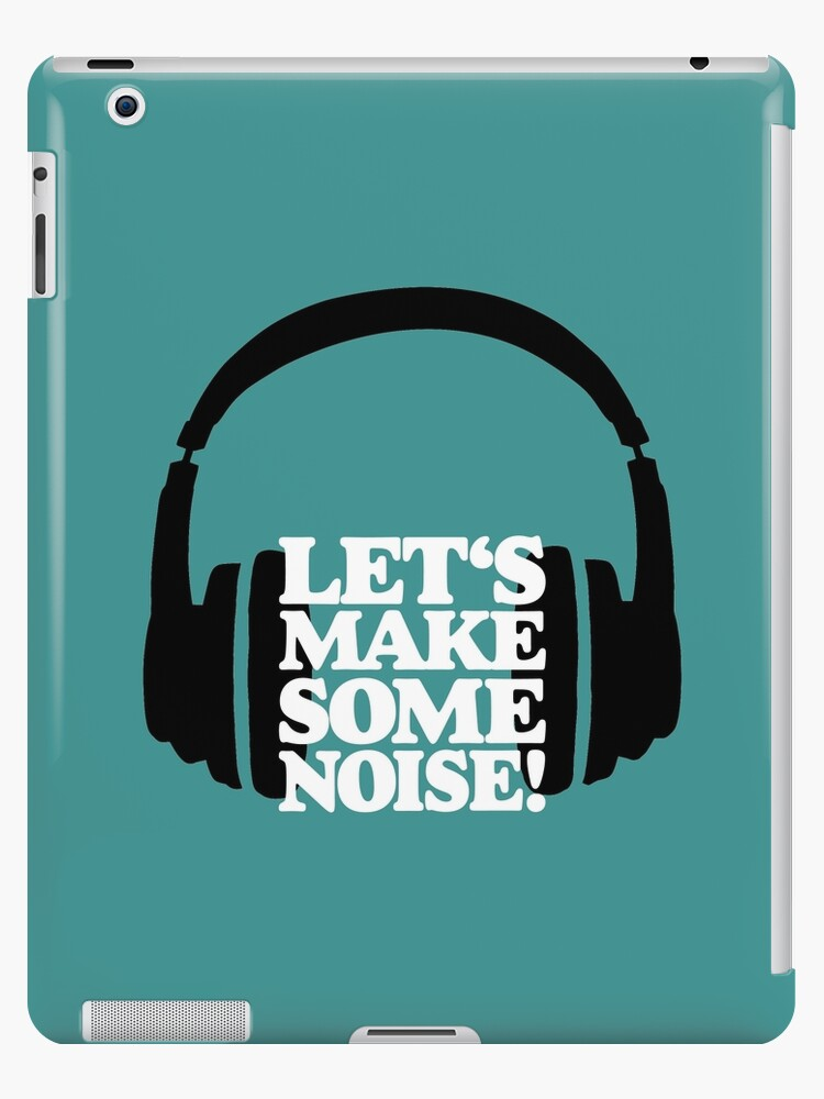 'Let's make some noise - DJ headphones (black/white)' iPad Case/Skin by  theshirtshops