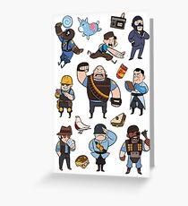 Team Fortress 2 / BLU All Class Greeting Card