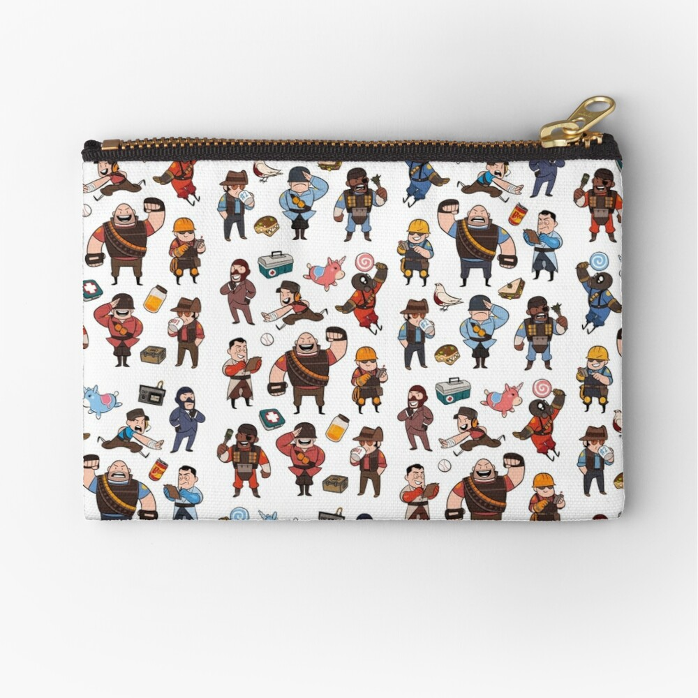 Team Fortress 2 / RED,BLU All Class(pattern) Zipper Pouch