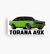 Holden Torana - A9X Hatchback - Green Canvas Print
