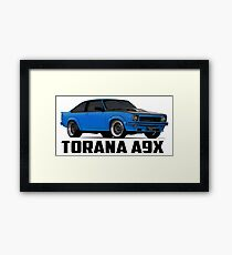 Holden Torana - A9X Hatchback - Blue Framed Print