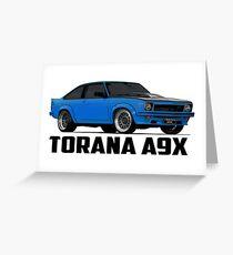 Holden Torana - A9X Hatchback - Blue Greeting Card