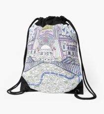 London Composition 4 Drawstring Bag