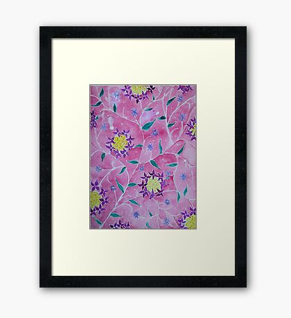 Flower Pattern Framed Print