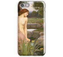 John William Waterhouse - Echo and Narcissus 1903 . Love , Romance iPhone Case/Skin