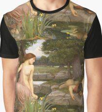 John William Waterhouse - Echo and Narcissus 1903 . Love , Romance Graphic T-Shirt