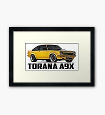 Holden Torana - A9X Hatchback - Yellow Framed Print