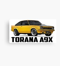 Holden Torana - A9X Hatchback - Yellow Canvas Print