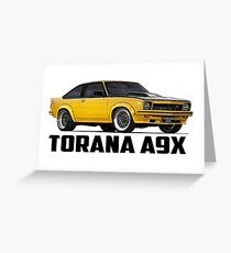 Holden Torana - A9X Hatchback - Yellow Greeting Card