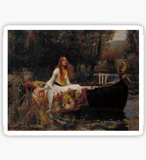 John William Waterhouse - The Lady of Shalott 1888 . Woman Portrait  Sticker