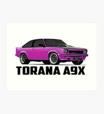 Holden Torana - A9X Hatchback - Pink Art Print