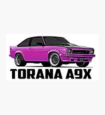 Holden Torana - A9X Hatchback - Pink Photographic Print