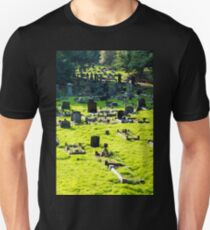 Graveyard With Old Weathered Gravestones T-Shirt