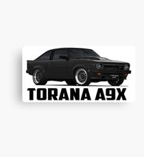 Holden Torana - A9X Hatchback - Black Canvas Print