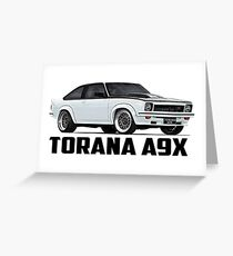 Holden Torana - A9X Hatchback - White Greeting Card
