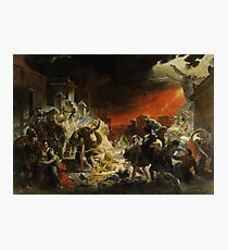 Karl Bryullov Bryullo - The Last Day of Pompeii 1830 - 1833 Photographic Print