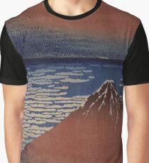 Katsushika Hokusai - Japanese Landscape . Rock Graphic T-Shirt