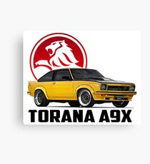 Holden Torana - A9X Hatchback - Yellow 2 Canvas Print