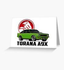 Holden Torana - A9X Hatchback -  Green 2 Greeting Card