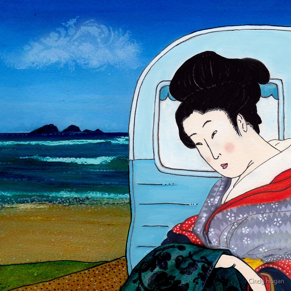 The Hokusai Family Holiday, Day 5 by Cindy Hogan