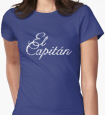 El Capitán Vintage White Womens Fitted T-Shirt