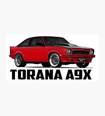 Holden Torana - A9X Hatchback - Red Photographic Print