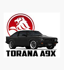 Holden Torana - A9X Hatchback - Black 2 Photographic Print
