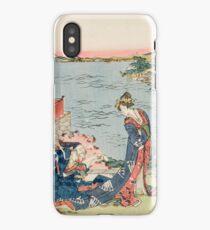 Katsushika Hokusai - Woodcut 1806 . Japanese Romance . Love iPhone Case/Skin