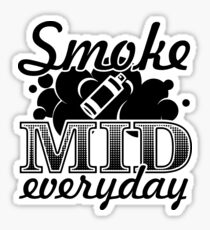 Smoke Mid Everyday - Stamp Version Sticker