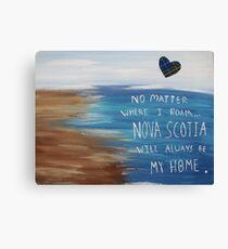 Nova Scotia Home Canvas Print