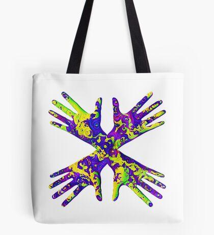 #DeepDream Painter's gloves 5x5K v1456325888 Tote Bag