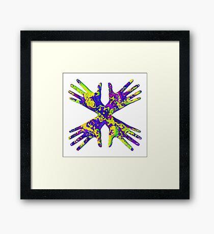 #DeepDream Painter's gloves 5x5K v1456325888 Framed Print