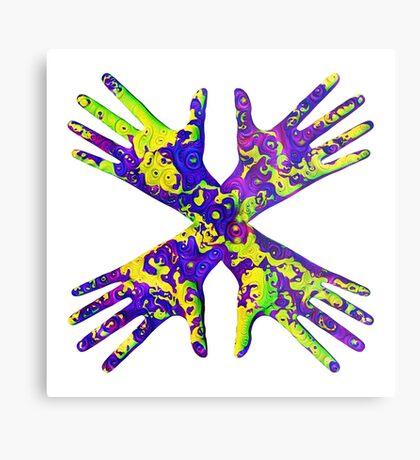 #DeepDream Painter's gloves 5x5K v1456325888 Metal Print