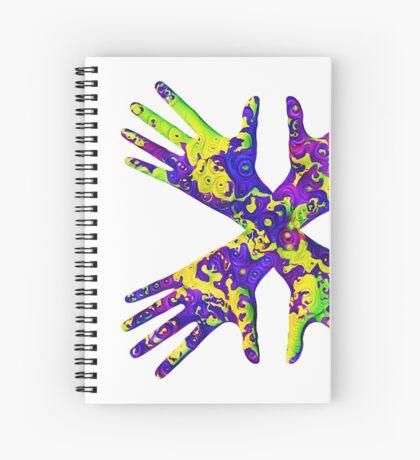 #DeepDream Painter's gloves 5x5K v1456325888 Spiral Notebook