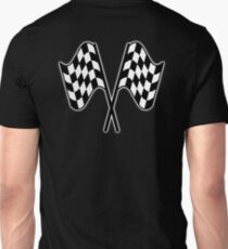 MOTOR SPORT, RACING, Racing Cars, Race, Checkered Flag, Le Mans, Flutter, WIN, WINNER, Chequered Flag, Double, Finish line, BLACK T-Shirt