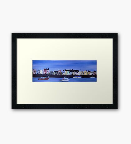 Harbourside Houses Framed Print