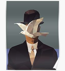 The Man In The Bowler Hat -Magritte- Poster