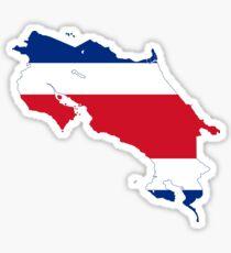 Flag Map of Costa Rica Sticker