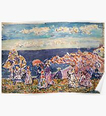 Maurice Prendergast - On the Beach 1907-1909  American Impressionism , Seascape  Poster