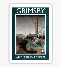 Grimsby - Any Port In A Storm Sticker