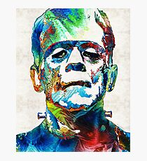 Frankenstein Art - Colorful Monster - By Sharon Cummings Photographic Print