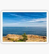 Scenic Maine Coastline Sticker