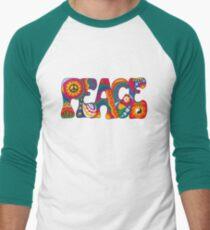 Camiseta ¾ bicolor para hombre Paz Psicodélica