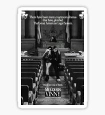 My cousin Vinny movie poster Sticker